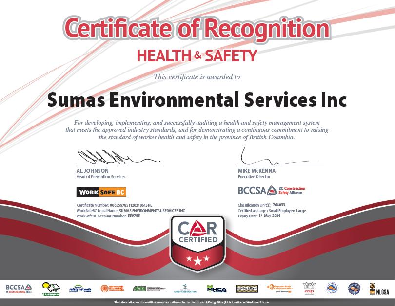 COR Certificate